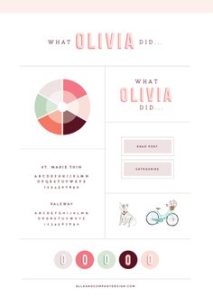 Brand + Website Design for What Olivia Did - Elle & Company