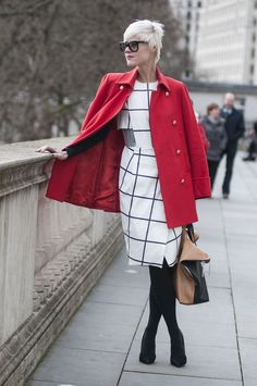 Again, further proof that red and black is the best, most classic color combo there is.   - MarieClaire.com