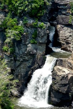 Linville Falls in Blue Ridge Mountains, N. Carolina - USA...I have already hiked somewhere near Charlotte North Carolina, not sure if it was Blue Ridge Mountains or not