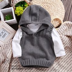 New 2015 spring autumn children sweater boys Knit Vest kids clothes baby waistcoat knitwear infant Casual hooded coat pullover-in Sweaters from Mother & Kids on Aliexpress.com | Alibaba Group