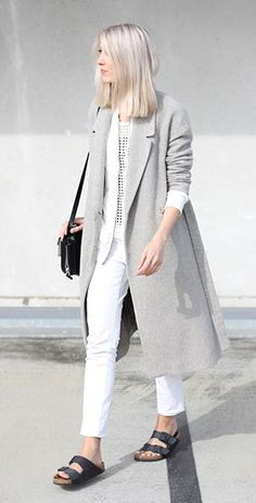 Minimal สไตล์ เสื้อโค้ท Cos เดรส Weekday เสื้อ Costes กางเกงยีนส์ Mango รองเท้า Birkenstock กระเป๋า Alexander Wang