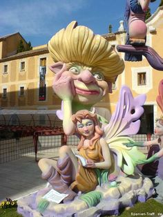 Fallas Figuren in Benicarló - Spanien - Spain - España