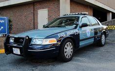 Mass. State Police cruiser in Boston
