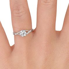 Oh Goodness! I love this 18K White Gold Chamise Diamond Ring!