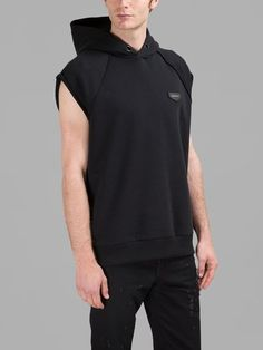 GIVENCHY Black Sleeveless Hoodie. #givenchy #cloth #sweaters