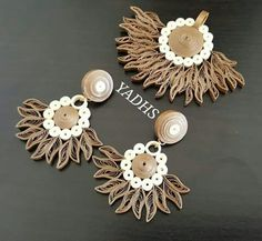 Quilled jewelry set