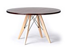 48 Round Dining Table in Walnut Maple & Steel door StyloDesign, $3990.00