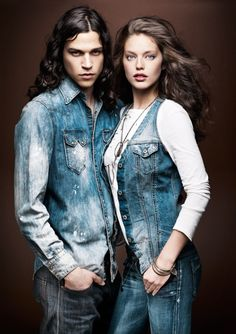 Replay Autumn/Winter 2012 Advertising Campaign: Authentic Denim Texture & Young Refreshing Casual Looks