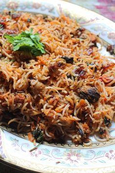 Mushroom Dum Biryani Recipe