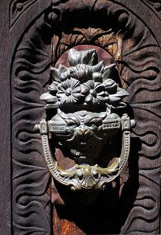 Door knocker at Filoli Gardens