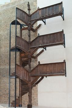 Carved oak staircase, Morlaix, France, 1522-30. Museum no. A.8:1-1909