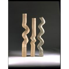 Three standing pipes (Forms) by Lowndes, Gillian, 1968 (made). Book Projects, Projects To Try, The V&a, Victoria And Albert Museum, Pipes, Metal Working, Third, Objects, Students