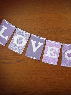 Lovely Lilac beautiful patterned Wedding Garland   Earmark Social