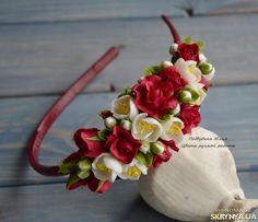 Малиновый пунш – обруч с розами и жасмином