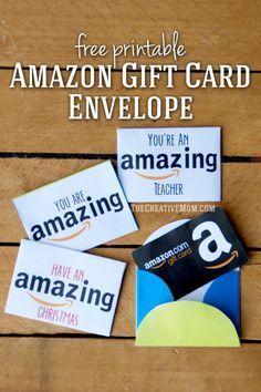 Amazon Gift Card Envelopes (free printable download)