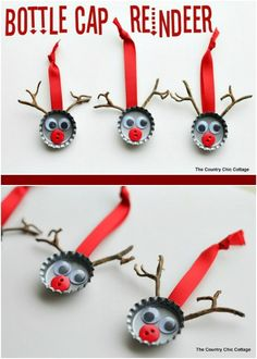 Grab the kids and the glue, it's time to let them get creative! These darling Reindeer are the perfect Kids Christmas Craft! Pin to your Christmas Board!