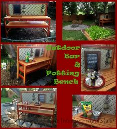 The Interior Frugalista: DIY Outdoor Bar & Potting Bench