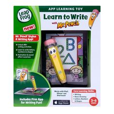 "LeapFrog Learn to Write with Mr. Pencil Stylus & Writing App - LeapFrog - Toys ""R"" Us $14.99 (for Adriana & Liam) can be used with iPhone, iPad and iPod"