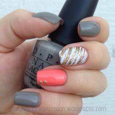 Grey coral mani