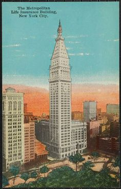 The Metropolitan Life Insurance Building, New York City.