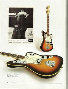 1976 custom - built Fender Jaguar featuring contoured back with flat edge bound top, angled bridge pickup and pearloid pickguard Guitar Strings, Guitar Pedals, Guitar Amp, Cool Guitar, Fender Jaguar, Guitar Photos, Guitar For Beginners, Pedalboard, Fender Guitars