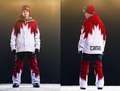 Under Armour Canada Snowboard Uniforms Sochi 2014