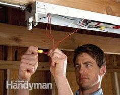 Save Money by Upgrading Fluorescent Fixtures Electrical Work, Electrical Projects, Electrical Outlets, Diy Projects Cans, Home Fix, Diy Home Repair, Home Upgrades, Home Repairs, Save Energy