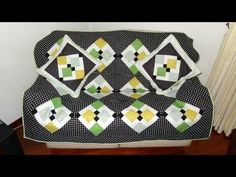 ▶ Manta em patchwork Manhattan - Bloco nine patch com desconstrução - Patchwork Maria Adna - YouTube
