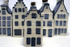 Picture of a row of delft blue (aka dutch china)ceramic houses of which one is standing out. Part of a series of delft blue houses stock photo, images and stock photography. Clay Houses, Ceramic Houses, Ceramic Clay, Ceramic Pottery, Blue And White Style, Blue And White China, Blue China, Pottery Houses, Dutch House