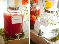 Refreshing beverages at an elegant baby shower
