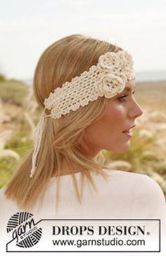 Summer Rose Fashionable Wide Triple Flower Crochet Tie Headband for Teeens and Adults, Custom Order,