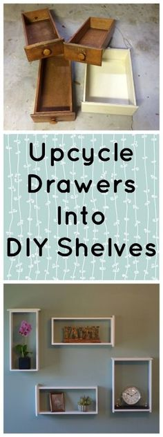 DIY Shelves ~ Easy How To On The Cheap | http://savingthefamilymoney.com/diy-shelves-easy-cheap/ #upcycle With Video Tutorial