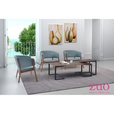Intrigue a simple and elegant look to your living space by adding this ZUO Sister Walnut and Black Coffee Table. MDF and metal frame. Black End Tables, Black Coffee Tables, Walnut Coffee Table, Sisters Coffee, Outdoor Furniture Sets, Modern Furniture, Mid-century Modern, Living Spaces, Interior Design