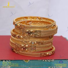 Get In Touch With us on Gold Bangles For Women, Gold Bangles Design, Gold Earrings Designs, Gold Designs, Gold Jewelry Simple, Gold Jewellery, Golden Jewelry, India Jewelry, Antique Jewellery Designs