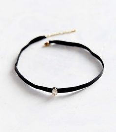UO Only Love Leather + Stone Choker Necklace