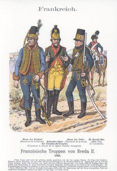 Band XVIII #8-. Französische Truppen vor Breda 1793. Kavalerie.