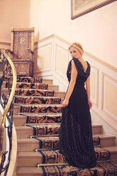 dress long 20 years in gold lame black silk by ZAWANNmadeinfrance