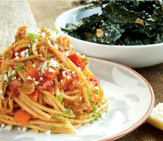 Spaghetti Chitarra with Kale Chips. Just sayin. http://www.chefd.com/collections/all/products/spaghetti-chitarra