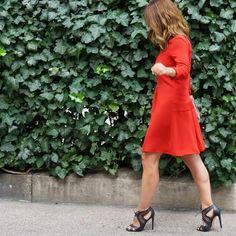 Mission;Style: Rusty…  ZARA Box Pleat dress