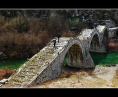 """Old stone brige """" kalogeriko"""" by Nick Zach (Greece) Old Bridges, Old Stone, View Image, Garden Bridge, Greece, To Go, Outdoor Structures, Earth, River"""