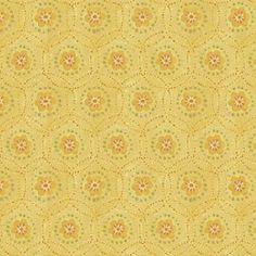 """""""Garden Song"""" geométrico e floral amarelo (estampa digital)"""