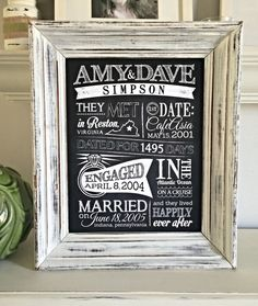 Dating/Engagement/Wedding Infographic Sign 18x24 by SangriaStudios