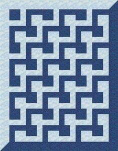 L-Block Quilt 17 | This computer-illustrated L-Block quilt w… | Flickr