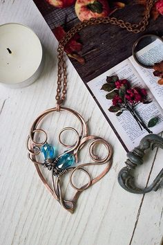 Wire wrapped necklaces for women Wire wrap artisan jewelry