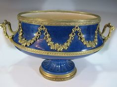 Paul Milet Sevres gilt bronze & porcelain centerpiece : Lot 131
