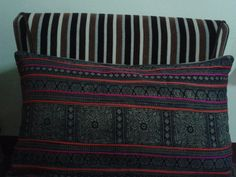 Vintage Pillow Cover Hill Tribe Textile Decorative by TribeVill