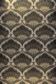 $75.29 Price per roll (per m2 $14.40), Retro wallpaper, Carrier material: Non-woven wallpaper, Surface: Smooth, Look: Matt pattern, Iridescent base surface, Design: Floral damask, Basic colour: Grey beige, Pattern colour: Brown, Black, Characteristics: Good lightfastness, Low flammability, Strippable, Paste the wall, Wash-resistant