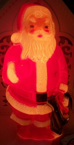 "VINTAGE EMPIRE BLOW MOLD HARD PLASTIC SANTA CHRISTMAS OUTSIDE INSIDE 13"" 1968 | eBay"