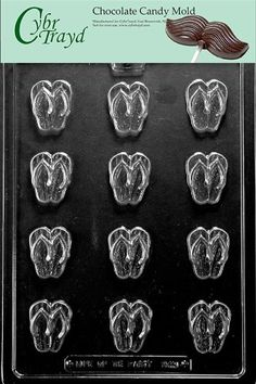 198d76a3493f1 Bite Size Flip Flop Chocolate Mold Soap Candy Molds Ships Same Day
