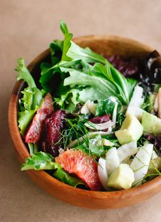 // blood orange, fennel and avocado salad